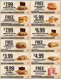 Burger King Coupons 2012